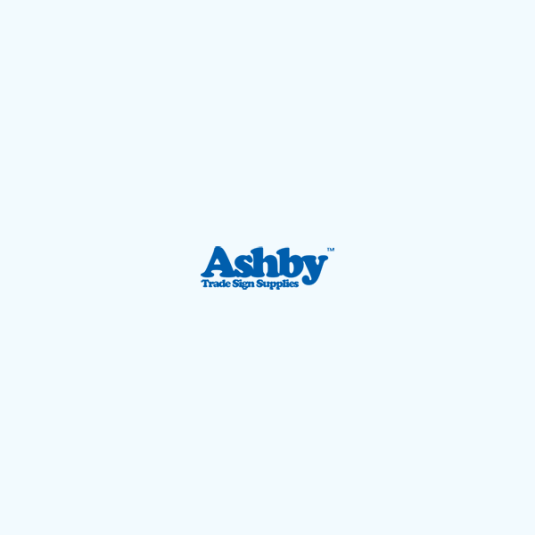Ashby Fixings - Post Mounted Acrylic Signs - Glass Clamps - D-Shape - Radius Back - Zinc