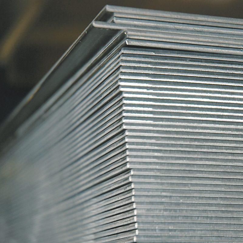 Ashby Aluminium - Stock Image - Stacked Aluminium Sheet (aa)