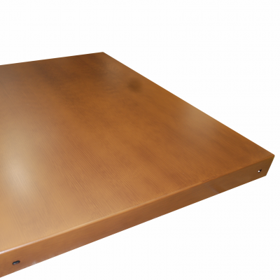 Ashby Tray - Post Mounted - Isometric - Wood Effect