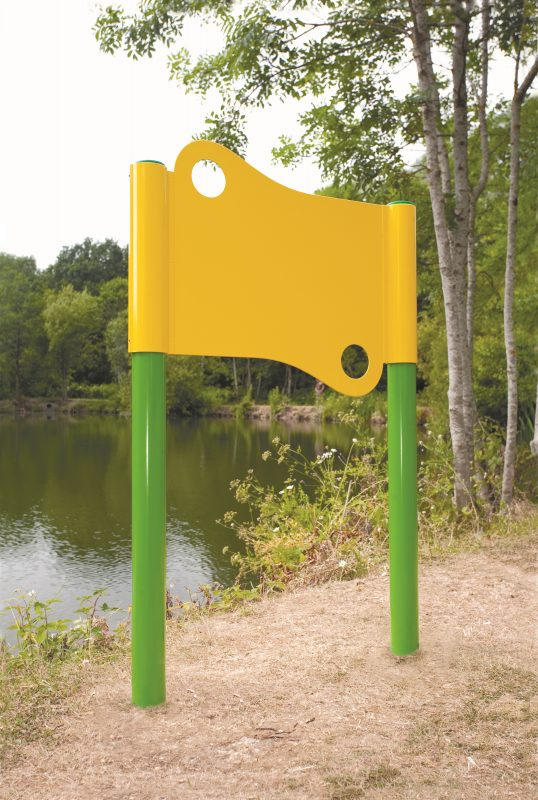 Ashby AS - Post Mounted - Shaped - Powder Coated