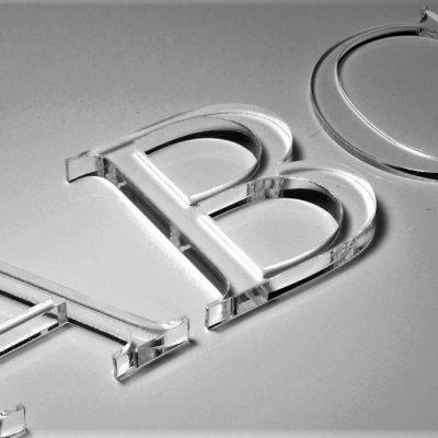 Letters - Flat Cut - Clear Acrylic
